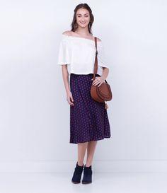 Saia feminina  Modelo midi  Transpassada  Estampada  Com amarração  Marca: Blue Steel  Tecido: viscose  Composição: 100% viscose  Modelo veste tamanho: P       COLEÇÃO INVERNO 2016       Veja outras opções de    saias femininas.