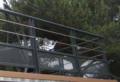Modern Railing, Deck Railings, Garde Corps Aluminium, Wrought Iron, Terrace, New Homes, Backyard, Exterior, Lights