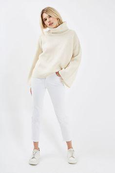 MOTO White Straight Leg Jeans - Topshop