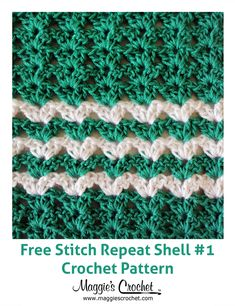 Stitch Repeat Shell #1 - Free Crochet Pattern