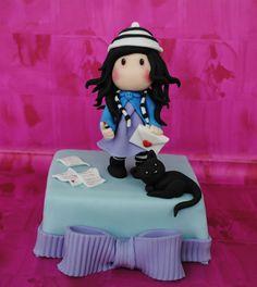 Topper Gorjuss (Art of Suzanne Woolcott) licensed merchandise to Santoro Fondant Toppers, Fondant Cakes, Cupcake Toppers, Cupcake Cakes, Cupcakes, Apple Cake Pops, Super Torte, Fondant Animals, Candy Cakes