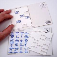 포스트카드, 해독할 수 있는 표. 이것으로 힌트를 얻어 낼 수 있당. Postcard Decoder - fun for nieces/nephews