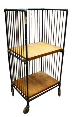 $795.00 Industrial Metal and Wood Cart - Aurora Mills Architectural Salvage