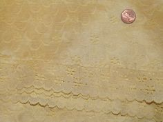 Vintage Tablecloth  Yellow Lace  L 420 by MineAlways on Etsy
