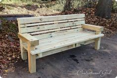 Plans for outdoor bench - would love to build this for a neighborhood park or something!.