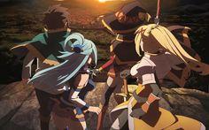Anime KonoSuba – God's Blessing On This Wonderful World!!  Aqua (KonoSuba) Darkness (KonoSuba) Megumin (KonoSuba) Kazuma Satou KonoSuba Wallpaper