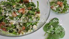 Ensalada Templada de Arroz y Espinacas con pollo y queso azul - Chef de ...