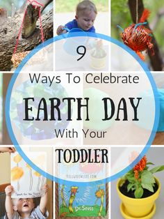 Earth Day with your Toddler | Full Green Life | Earth Day is a great opportunity to begin teaching your little guy or gal about our planet and how we can take care of it! Try out these 9 engaging ideas to celebrate Earth Day this year with your toddler or preschooler!