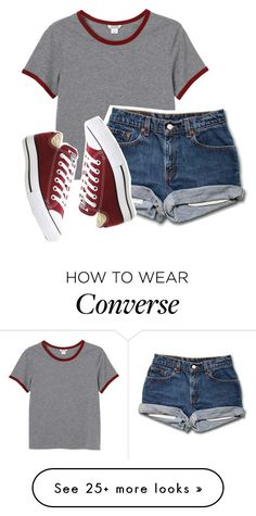 Polyvore featuring Monki and Converse