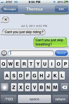 I may not have a horse or go riding all the time but when I do this is me. That is if you ask me to skip riding.
