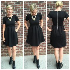 Love the fit and style of this dress perfect for a wedding with a bold necklace or dressed down hair tied back for meetings