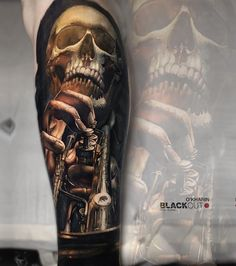 Skull tattoo by Sasha O Kharin
