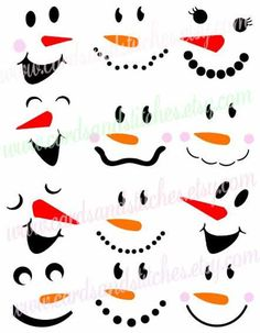 Bastelideen This snowman faces SVG digital cutting file is perfect for snowman. So you can put them Christmas Art, Christmas Projects, Winter Christmas, Christmas Decorations, Christmas Wood Crafts, Christmas Quotes, Wooden Christmas Ornaments, Snowman Ornaments, Christmas Christmas