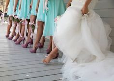 Tiffany blue and pink wedding.