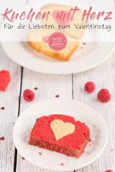 Cake with heart in - Valentinstag Cereal, Bakery, Breakfast, Food, Meals, Tart, Piece Of Cakes, Amazing Cakes, Valentines Date Ideas