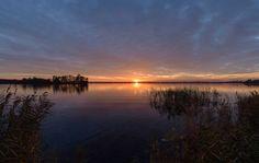 Sunset, zonsondergang Wijde Blik, Kortenhoef, Wijdemeren, Noord Holland, Netherlands