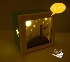 The little prince shadow box night light Special by FairyCherry