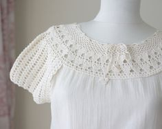 Crochet blouse womens, Summer clothes, Cotton clothes, Lace crochet top, Summer top for women, Cream blouse, Cotton blouse for women