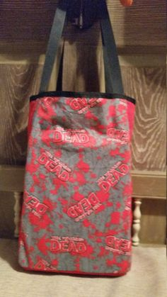 The Walking Dead tote bag Zombie Halloween costume by craftyann29 on Etsy