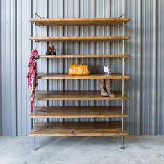 Industrial Closet Shelving, Shoe shelf unit, Custom pipe shelving, Industrial shelves, Shoe and Purse display shelving, Pipe shelving Unit