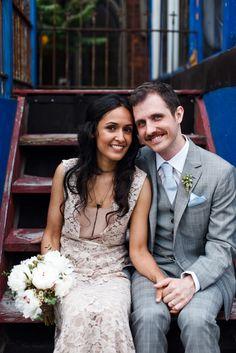 Stylish wedding portrait at the Berkeley Field House | Boyfriend/Girlfriend Pictures | Rubies and Ribbon http://www.boyfriendgirlfriendpictu...