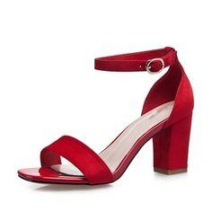 7fc9538af1e Zapatos Sandalias Salón Encaje Tacón ancho Ante Sandalias Tacon Ancho
