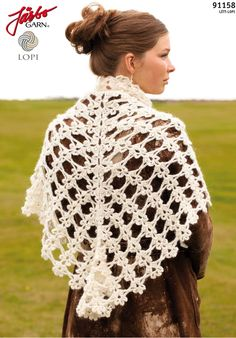 Wonderful shawl made of Icelandic wool.