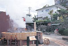 Arima Hot Springs (Kobe) | Hyogo Tourism Guide- Arima Hot Springs is located in the north foot of Mt. Rokko and is one of the three oldest hot springs in Japan. Toyotomi Hideyoshi loved this area. Even now the hot springs town still has the feel of olden times.