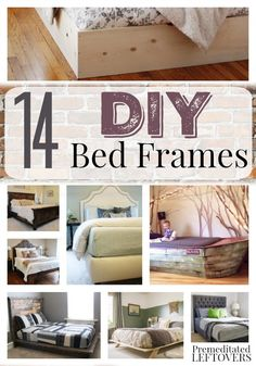 DIY Beds and Bed Frames- Here are 14 custom beds you can build at home with just a few basic woodworking skills. Find one that matches your style!