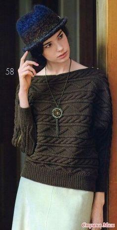 Пуловеры. Поперечное вязание.