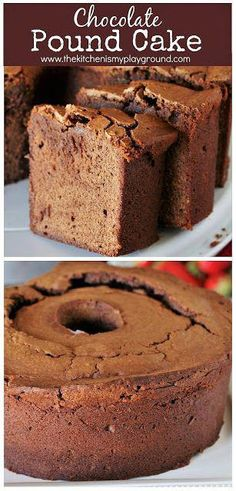Want a chocolate pound cake that actually tastes like chocolate? With its rich chocolate flavor from both cocoa and chocolate syrup in the batter, this Chocolate Pound Cake recipe is for you! Chocolate Pound Cake, Chocolate Syrup, Homemade Chocolate, Chocolate Flavors, Chocolate Recipes, Chocolate Cocoa Cake Recipe, Just Desserts, Delicious Desserts, Dessert Recipes