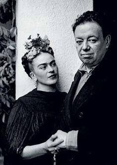 Frida Kahlo y Diego Rivera San Angel, 1940