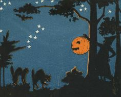 dachweiler: art detail from vintage Halloween postcard Halloween Inspo, Retro Halloween, Halloween Prints, Halloween Signs, Halloween Pictures, Holidays Halloween, Spooky Halloween, Happy Halloween, Halloween Stuff