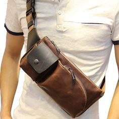Quality New Fashion Style Crazy Horse PU Leather Men Chest Pack Casual Small Bag CrossBody Shoulder Bag Leisure Travel Mini Bag 5 Colors with free worldwide shipping on AliExpress Mobile Crazy Horse, Small Crossbody Bag, Crossbody Shoulder Bag, Shoulder Bags, Leather Men, Leather Wallet, Mens Leather Shoulder Bag, Leather Gifts, Leather Bags Handmade