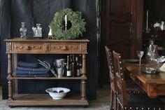 アンティークシェルフ desserte アンリ2世様式 フランス サイドテーブル オーク