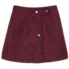 Yoins Wine Buttons A-line Mini Skirt (1.490 RUB) ❤ liked on Polyvore featuring skirts, mini skirts, bottoms, burgundy, stretchy mini skirts, short mini skirts, short a line skirt, distressed skirt and burgundy skirt
