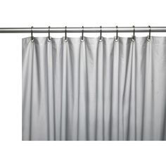 Park Avenue Deluxe Collection Park Avenue Deluxe Collection Hotel Collection 8 Gauge Vinyl Shower Curtain Liner w/ Weighted Magnets and Metal Grommets in Silver Hotel Shower Curtain, Vinyl Shower Curtains, Shower Curtain Hooks, Soundproof Windows, Shower Liner, Shower Mold, How To Clean Metal, Mold And Mildew, Mildew Stains
