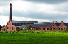 Industrieel erfgoed. Gerestaureerde strokartonfabriek, Oldambt  Industrial heritage, cardboard factory, Oldambt, Netherlands