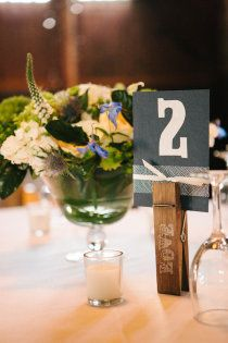 Place cards with clothspin