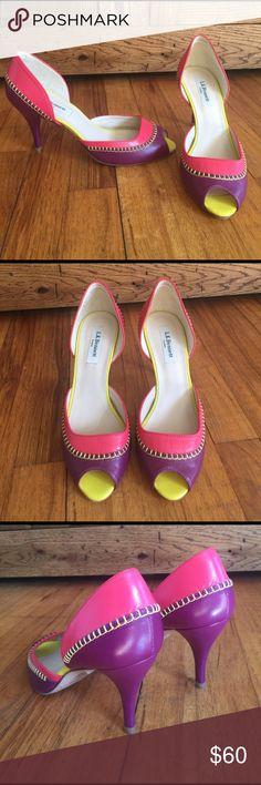 "BNWT LK Bennett ""Arlene"" peep toe heels! Sz 38 Beautiful brand new Lk Bennett ""Arlene"" leather peep toe heels. Never worn. Originally $325 Sz 38 **Comes with box LK Bennett Shoes"