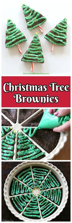 Christmas Tree Brownies. One of the most fun and festive Christmas treats!