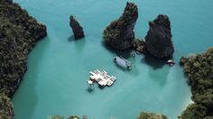 The floating cinema - Thailand