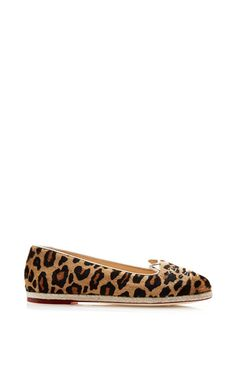 Capri Kitty Embroidered Printed Calfhair Espadrilles by Charlotte Olympia Now Available on Moda Operandi