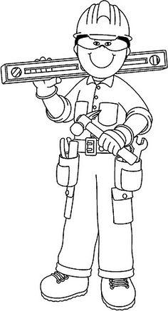 nice Carpenter Boy Coloring Page Community Helpers Worksheets, Community Helpers Preschool, Preschool Education, Preschool Activities, Teaching Kids, Boy Coloring, Coloring Pages For Boys, Colouring Pages, Coloring Books