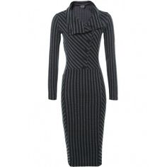 Women's Isabel de Pedro Jersey Pinstripe Dress ($395) ❤ liked on Polyvore