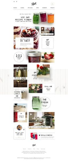 Creative Food Website Design Collection. = = = FREE CONSULTATION! Get similar web design service @