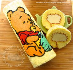 winnie the pooh maple syrup swiss roll
