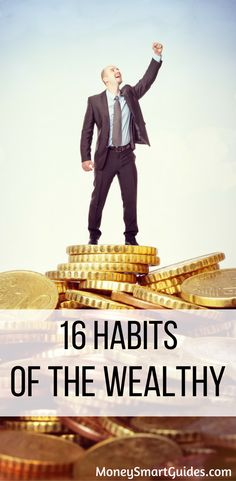 16 Habits Of The Wealthy. Learn the habits that make the rich wealthy. Use these tips to save more money, make more money and get ahead financially. via /moneysma/ Make More Money, Ways To Save Money, Money Tips, Money Saving Tips, Earn Money, Financial Tips, Financial Planning, Frugal Living Tips, Frugal Tips