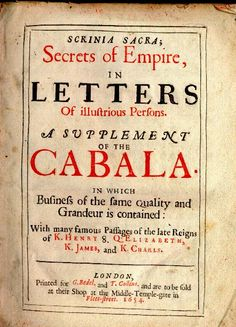 Title page of the Cabala