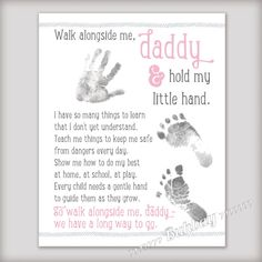 Walk with Me Daddy 8x10 Printable Art INSTANT DOWNLOAD by buhbay